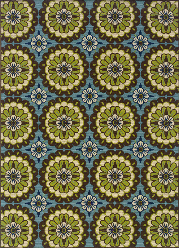 5x8 sphinx patio circles casual blue 8328l outdoor area rug approx 5 39 3 x 7 39 6 ebay. Black Bedroom Furniture Sets. Home Design Ideas