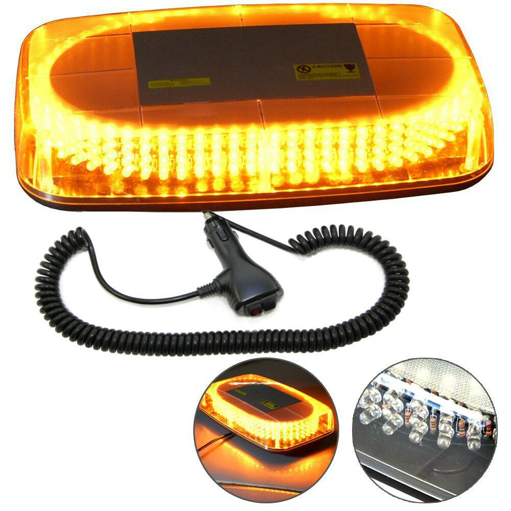 Hqrp 240 Led Strobe Amber Emergency Warning Mini Strobe