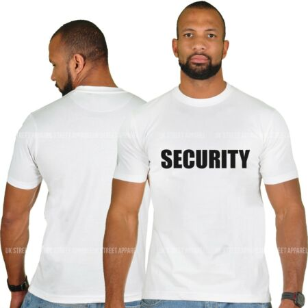 img-White Security T Shirt Crew Neck XL 46 inch Doorman Guard Bouncer Tee Door Staff