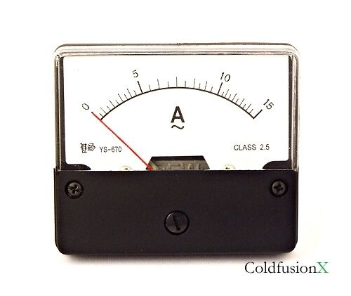 Ac Panel Meters : Ac a analog current panel meter ebay