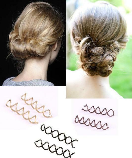 how to put in spiral hair pins