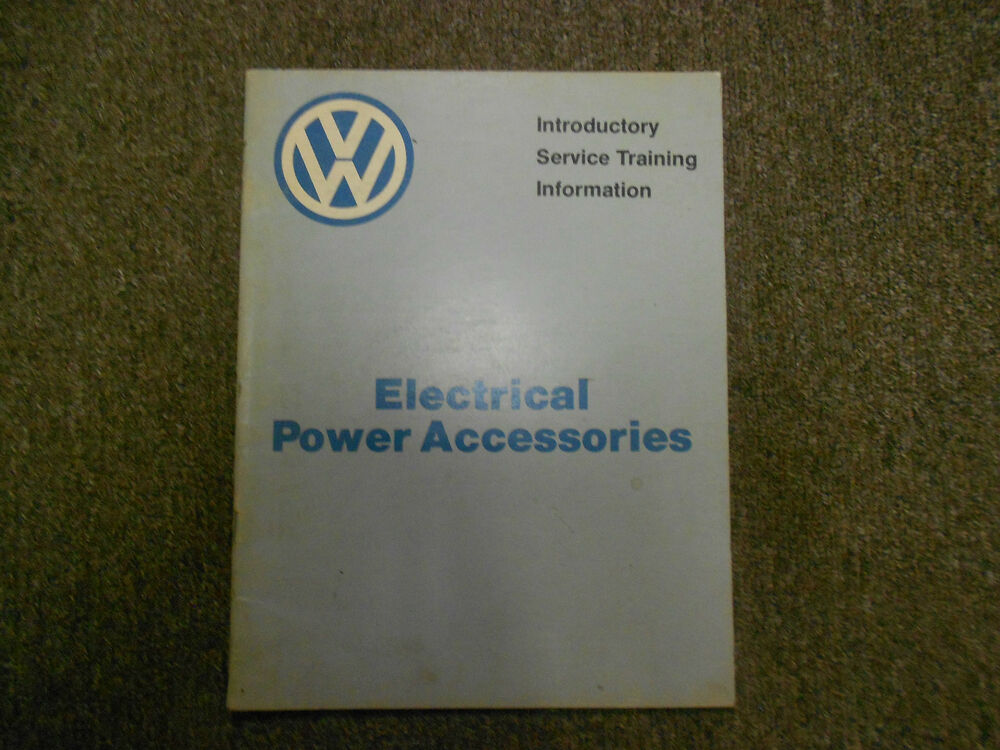 1983 Vw Electrical Power Accessories Introductory Service