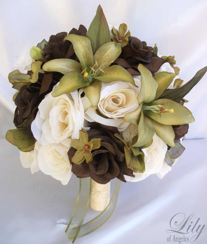 Flowers Wedding Ideas: 17pcs Wedding Bridal Bride Bouquet Flowers Decorations