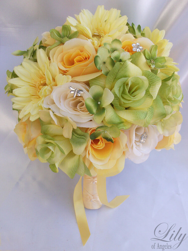 flowers bouquets for weddings 17pcs wedding bridal bouquet set decoration package silk 4252