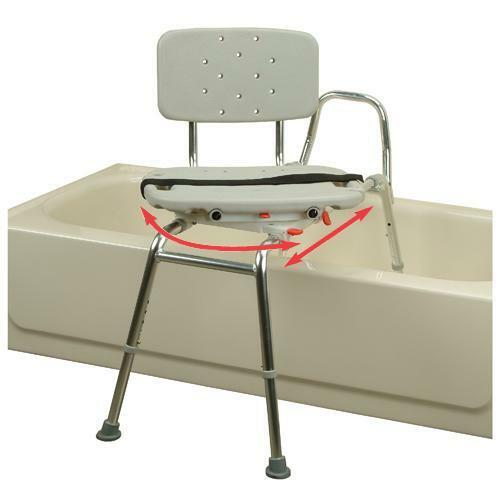 transfer bench 37662 w swivel seat bath safety shower chair ebay