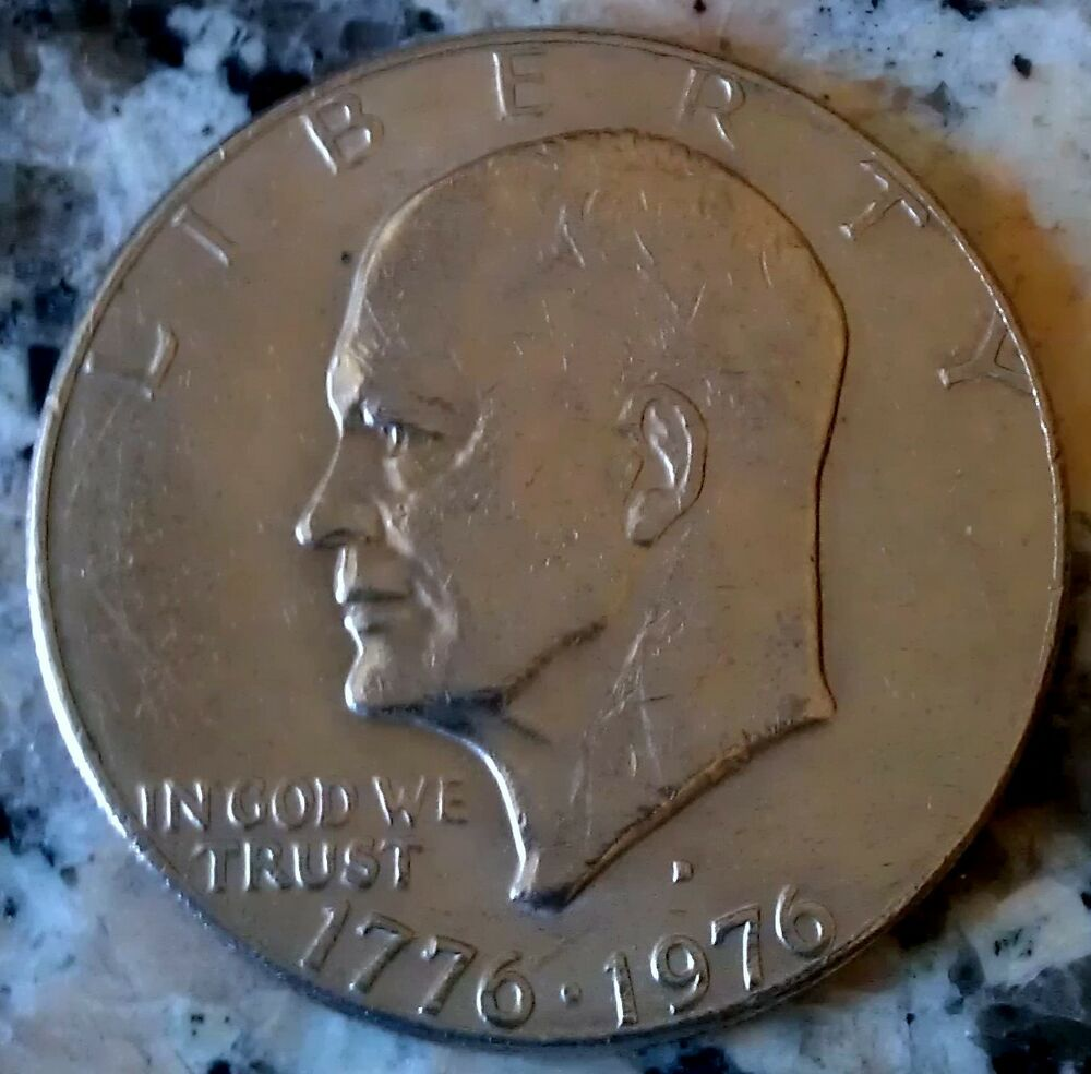 Dwight D Eisenhower 1776 1976 Silver Dollar Coin Rare