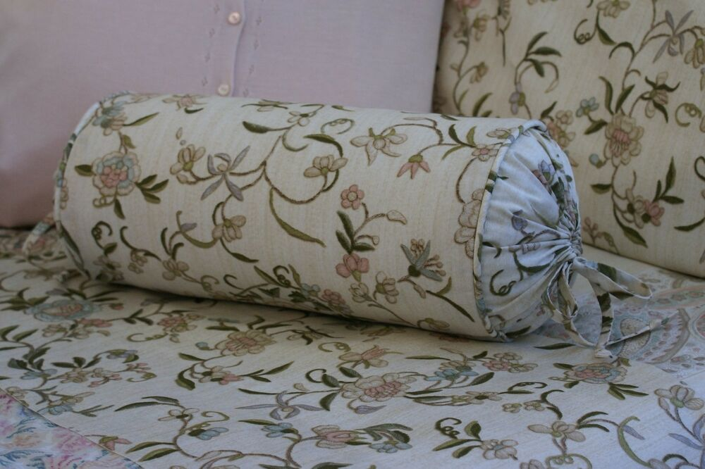 Decorative Bed Roll Pillows : NEW Custom Ralph Lauren Romantic Traveler Floral Neckroll Pillow Neck Roll eBay