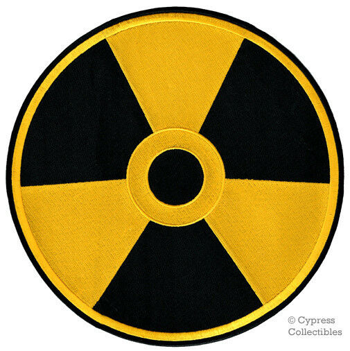 LARGE NUCLEAR RADIATION SYMBOL new EMBROIDERED IRON-ON ...