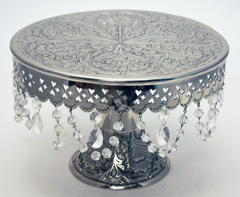 Wedding Cake Stand With Hanging Crystals