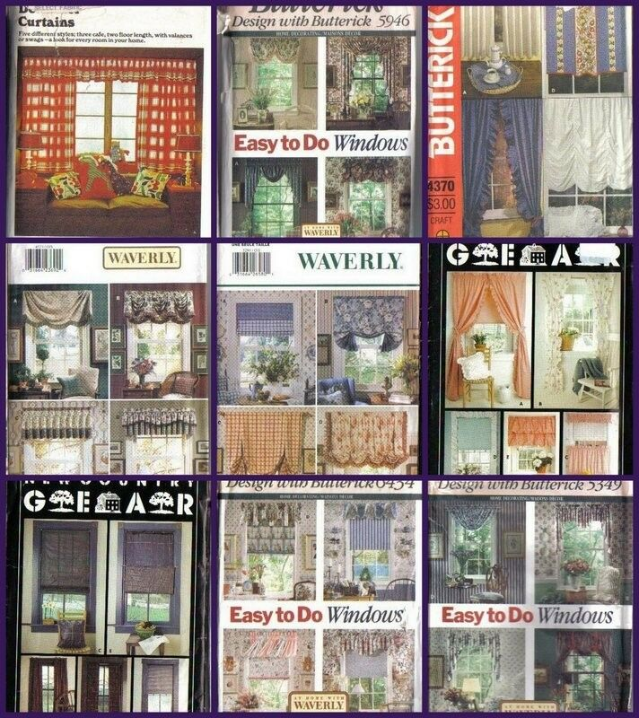 OOP Butterick Sewing Pattern Home Déco Window Treatment