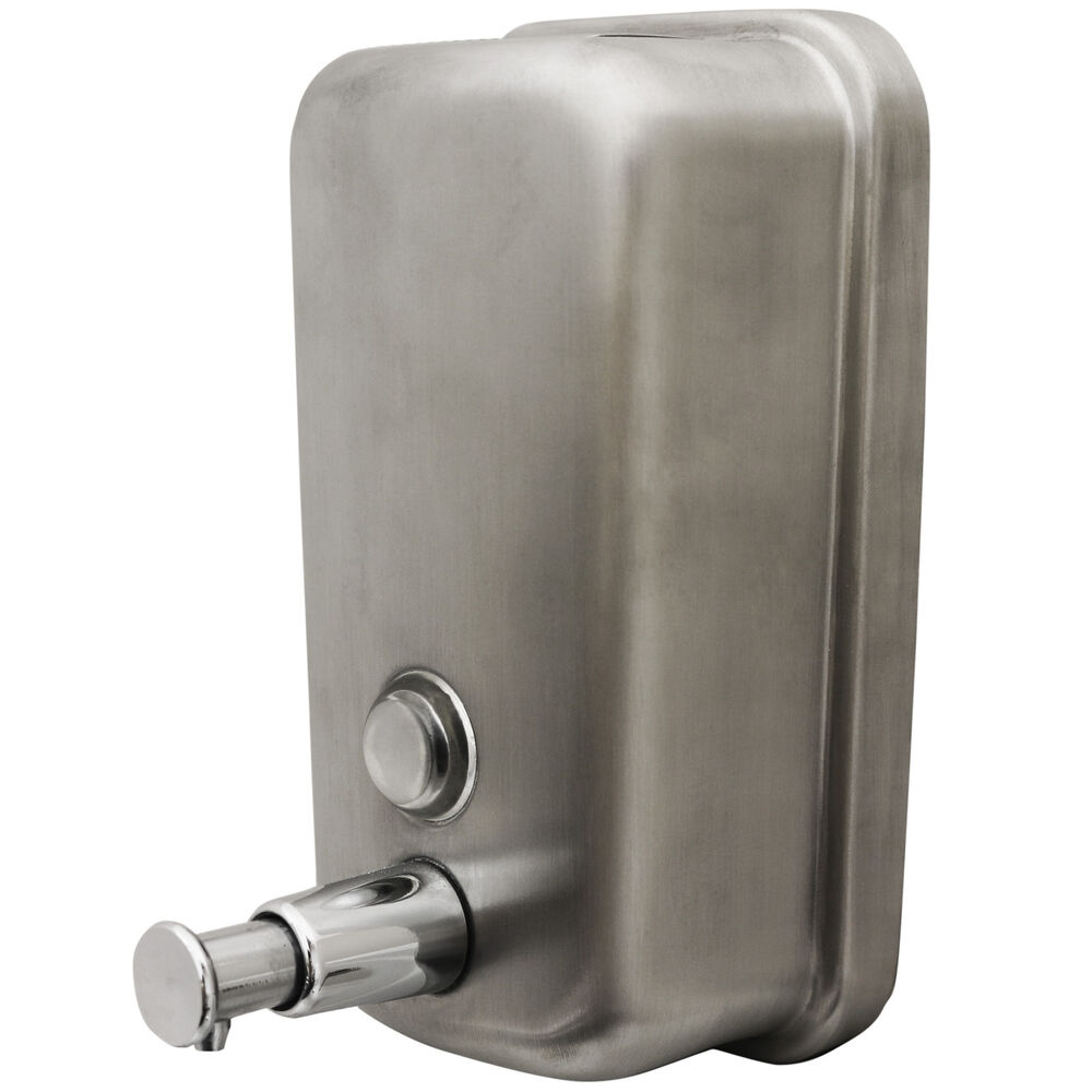 Stainless Steel Soap Shampoo Dispenser Pump Action Wall Mounted Shower Bathroom Ebay