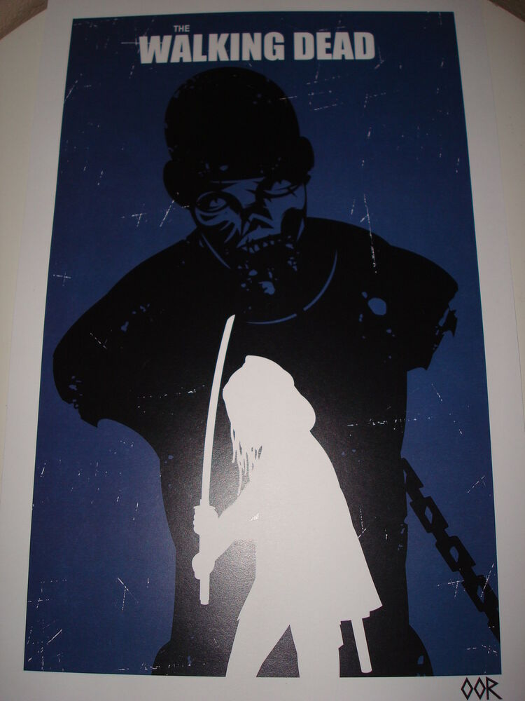 the walking dead michonne poster print ebay. Black Bedroom Furniture Sets. Home Design Ideas