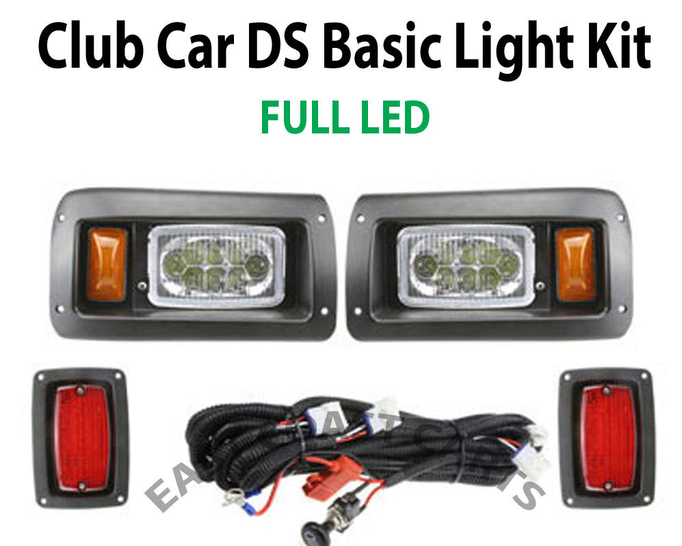 Club Car Ds Golf Cart Led Light Kit Led Headlights Amp Led