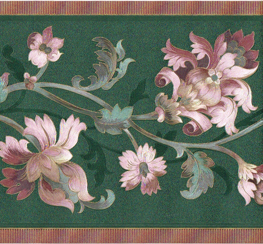 victorian green mauve pink floral floral leaf scroll silk