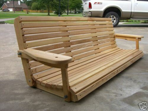 superb outdoor wooden swing bench