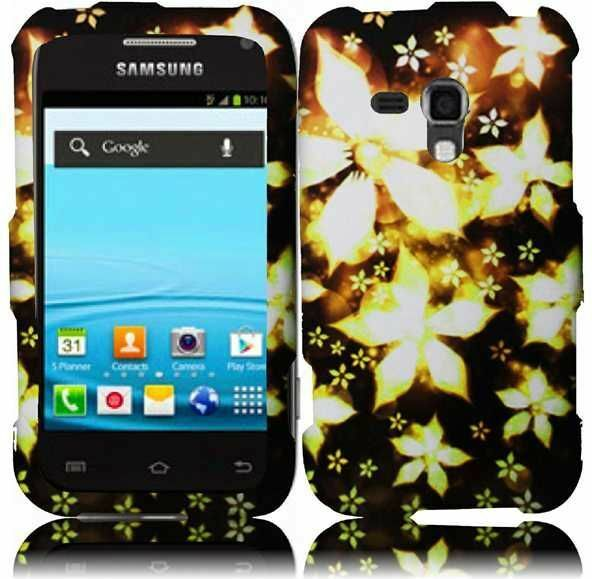 For Samsung Galaxy Rush M830 Rubberized HARD Case Snap Phone Cover ...