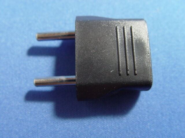 2 two new adapter plugs 110v us canada to 220v europe new ebay. Black Bedroom Furniture Sets. Home Design Ideas