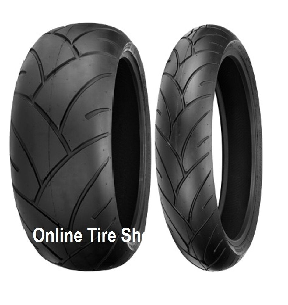 two new 120 60 17 rear 160 60 17 shinko 005 advance motorcycle tires front ebay. Black Bedroom Furniture Sets. Home Design Ideas