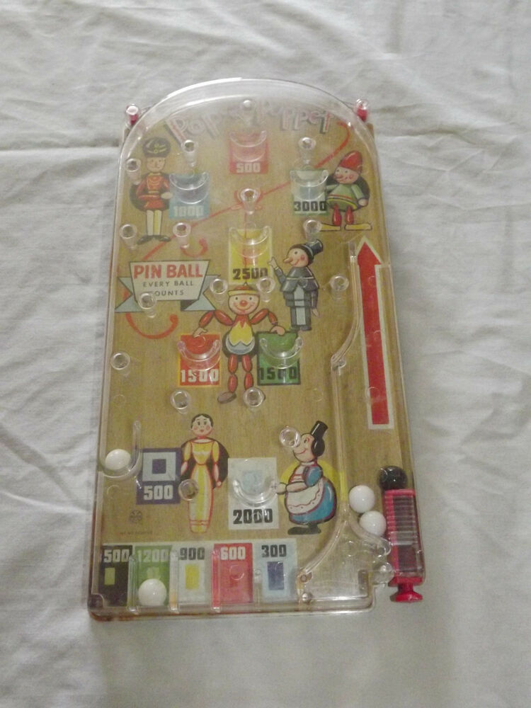 Vintage Toys From The 60s : Vintage toy s marx pop a puppet pin ball game ebay