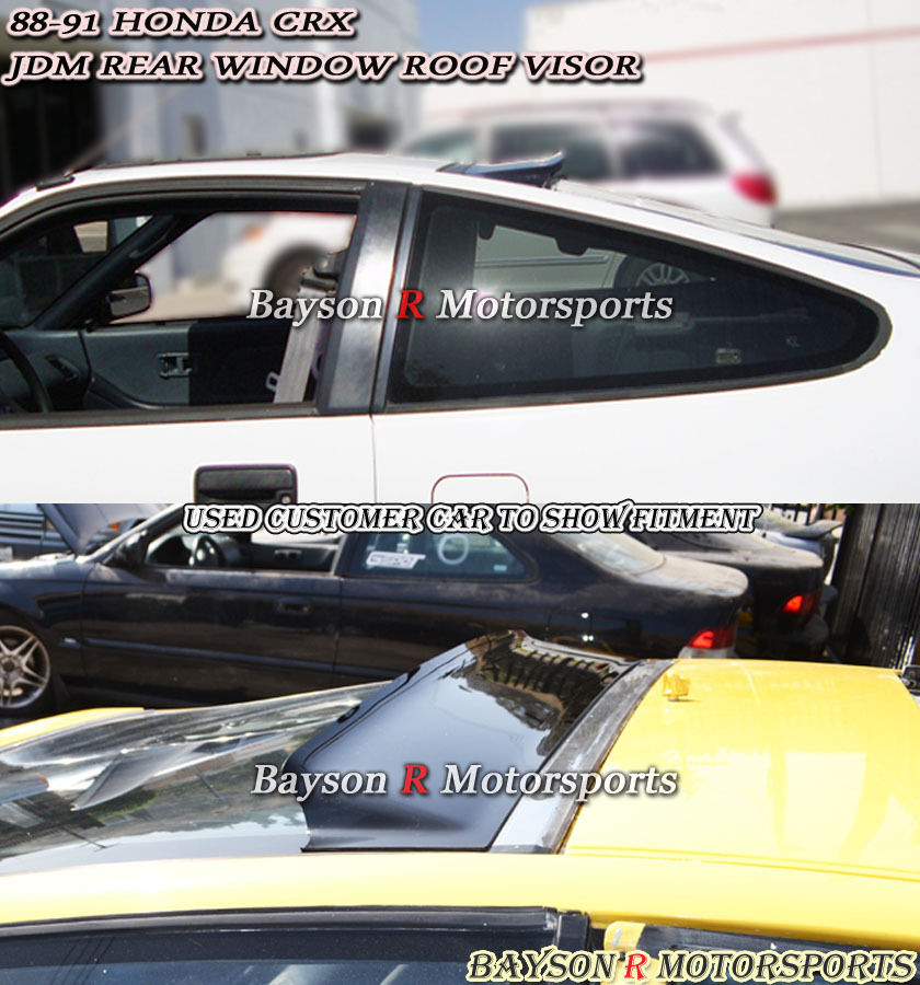 88 91 Crx Jdm Rear Roof Window Spoiler Visor Ebay