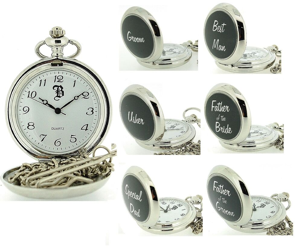 Wedding Gift For Groom Watch : ... Tone Gents Mens Grooms Wedding Day Gifts Pocket Watches for Him eBay