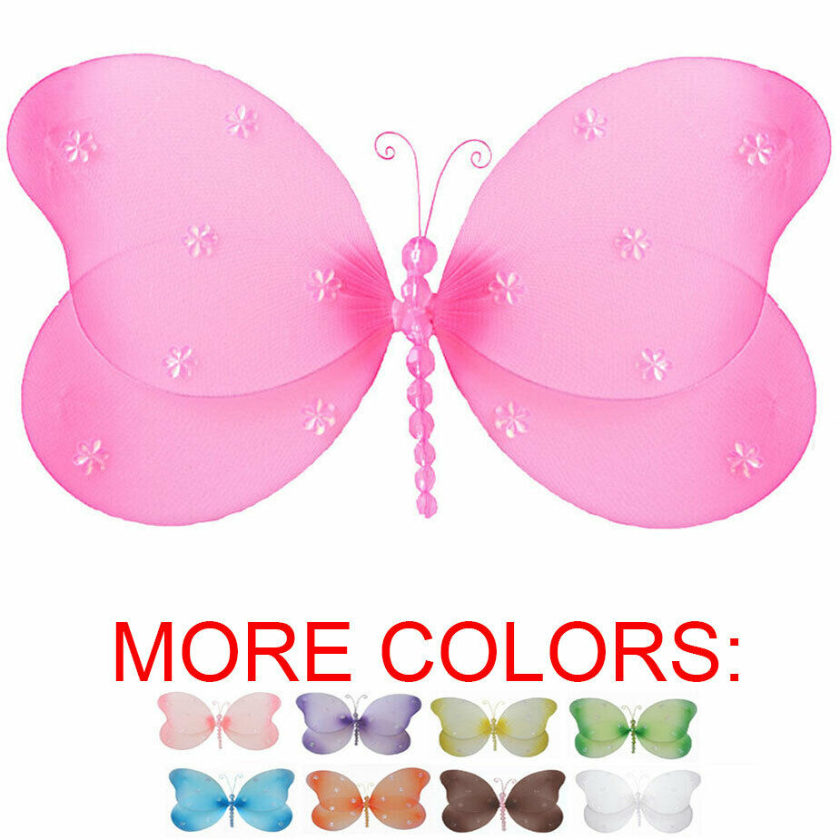 Butterfly Decor Nylon Hanging Wall Ceiling Baby Nursery Bedroom Decoration Girls Ebay