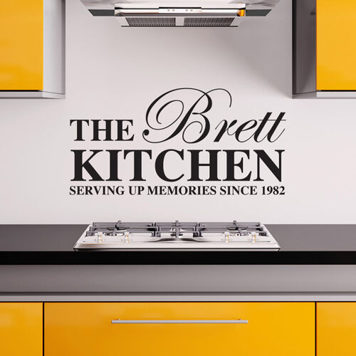 PERSONALISED KITCHEN WALL STICKERS FAMILY DECALS | eBay