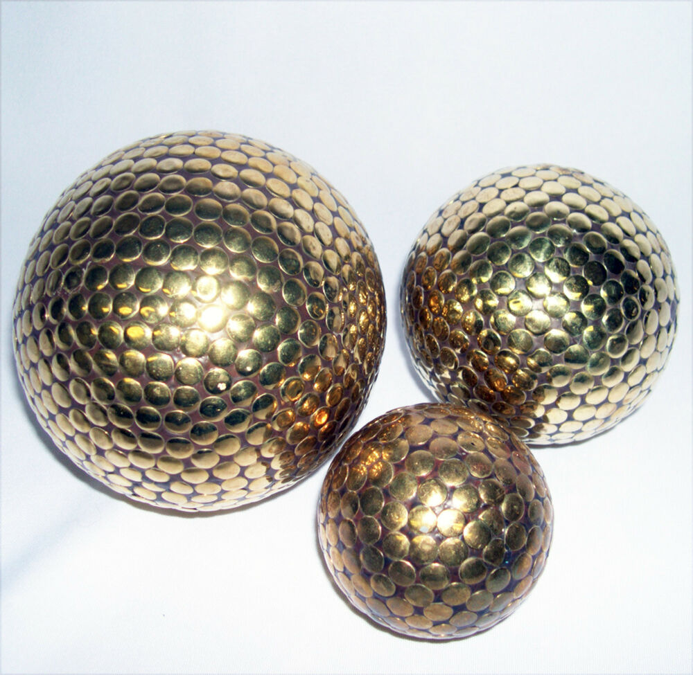 Decorative spheres globes orbs balls quot wood with brass