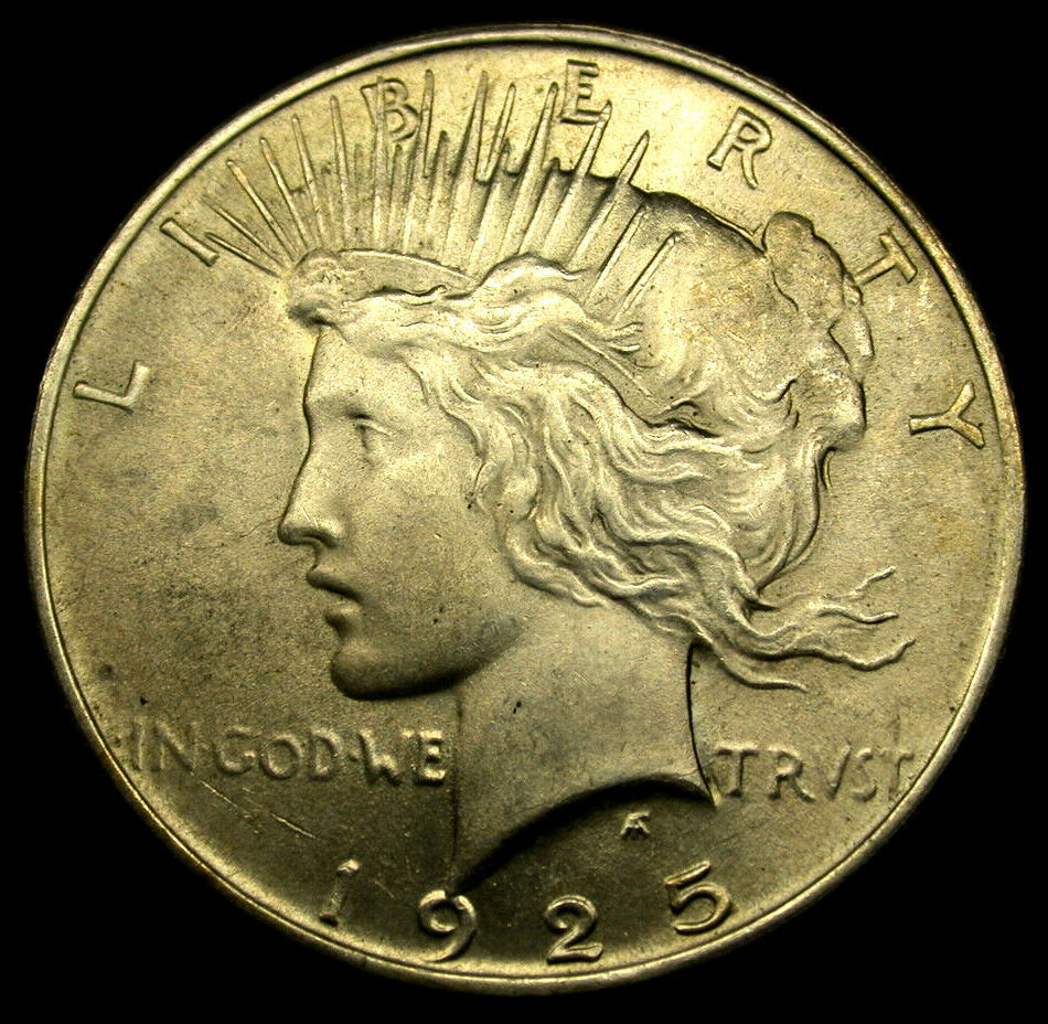 1925 United States Silver Peace Dollar Scarce Coin In