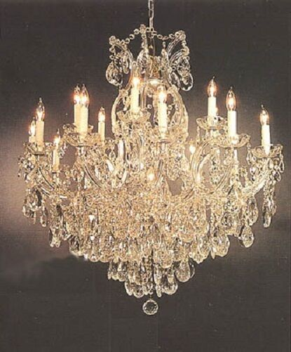 16 light maria theresa chandelier tear drop crystals foyer. Black Bedroom Furniture Sets. Home Design Ideas