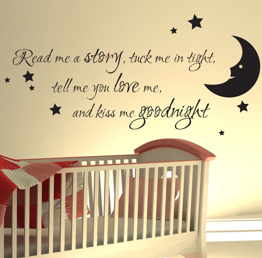 Nursery Ideas And Décor To Inspire You: NURSERY WALL STICKER READ ME A STORY KIDS ART DECALS