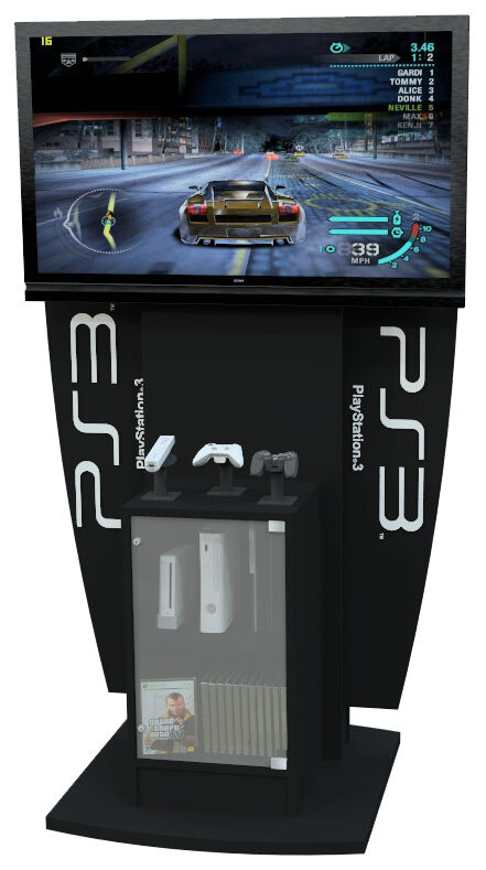 Exhibition Stand Game : Xbox playstation wii gaming display kiosk console