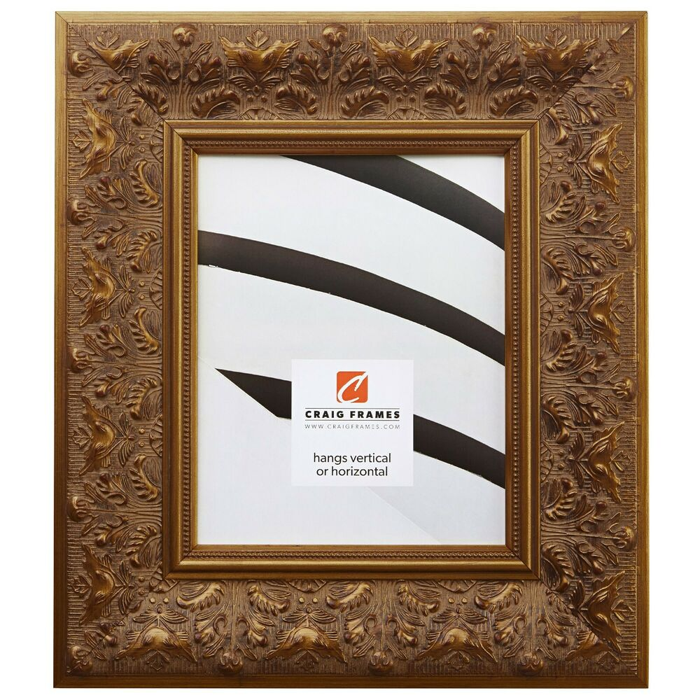 Craig Frames 3 5 Quot Wide Aged Ornate Gold Wood Picture