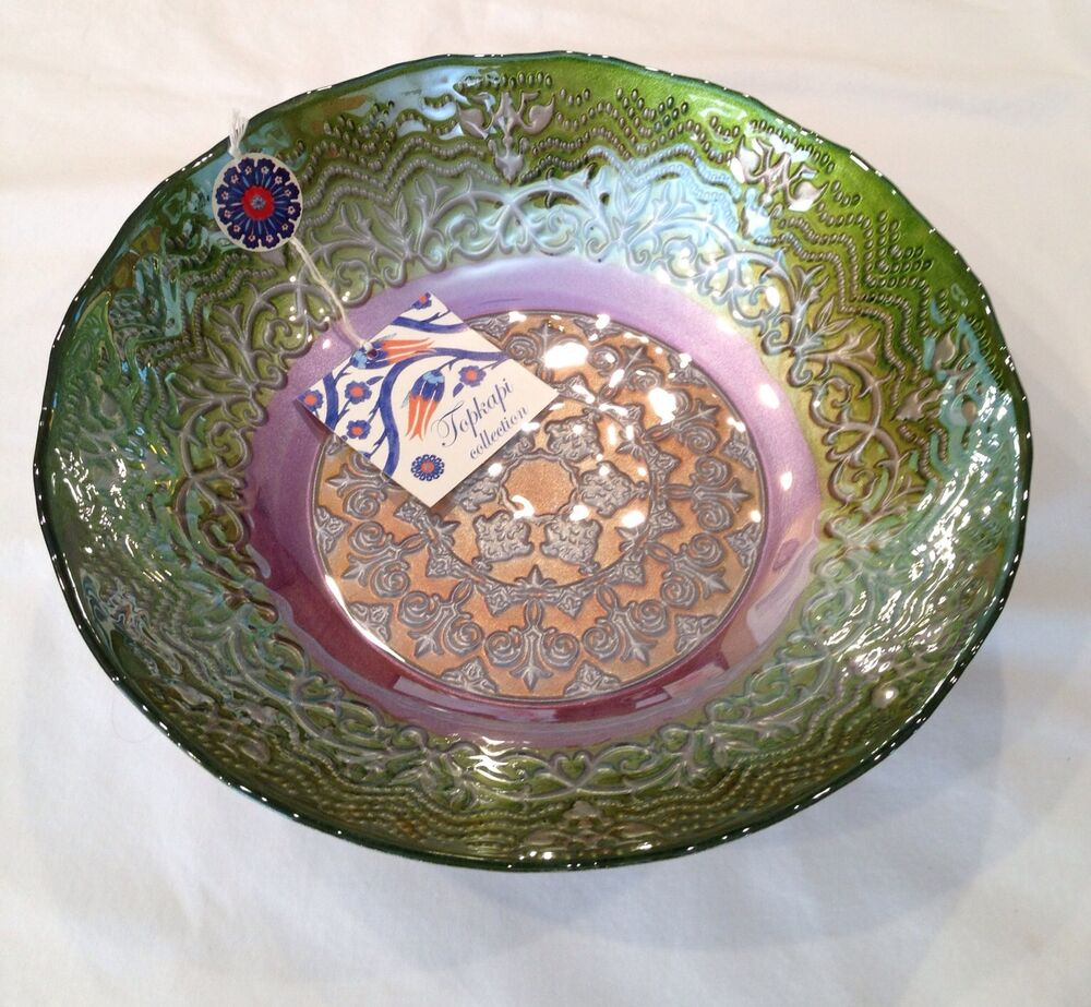 Topkapi collection glass bowl handmade made in turkey