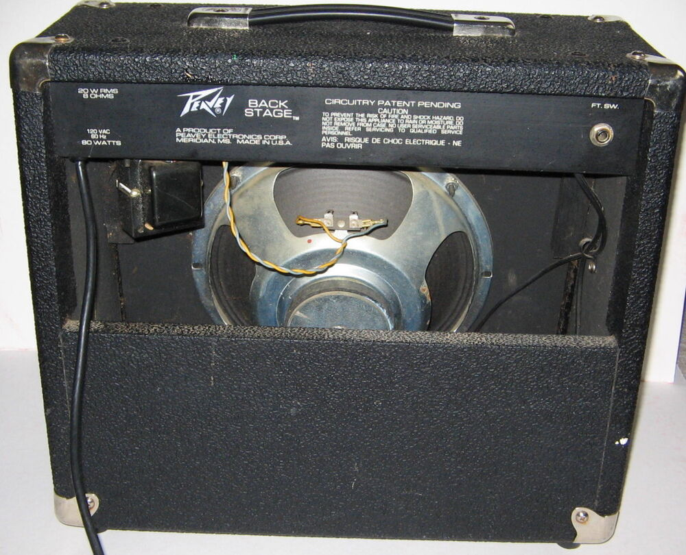 Guitar Amps Made In Usa : early model peavey back stage guitar amp made in usa 20 watts nice amplifier ebay ~ Russianpoet.info Haus und Dekorationen