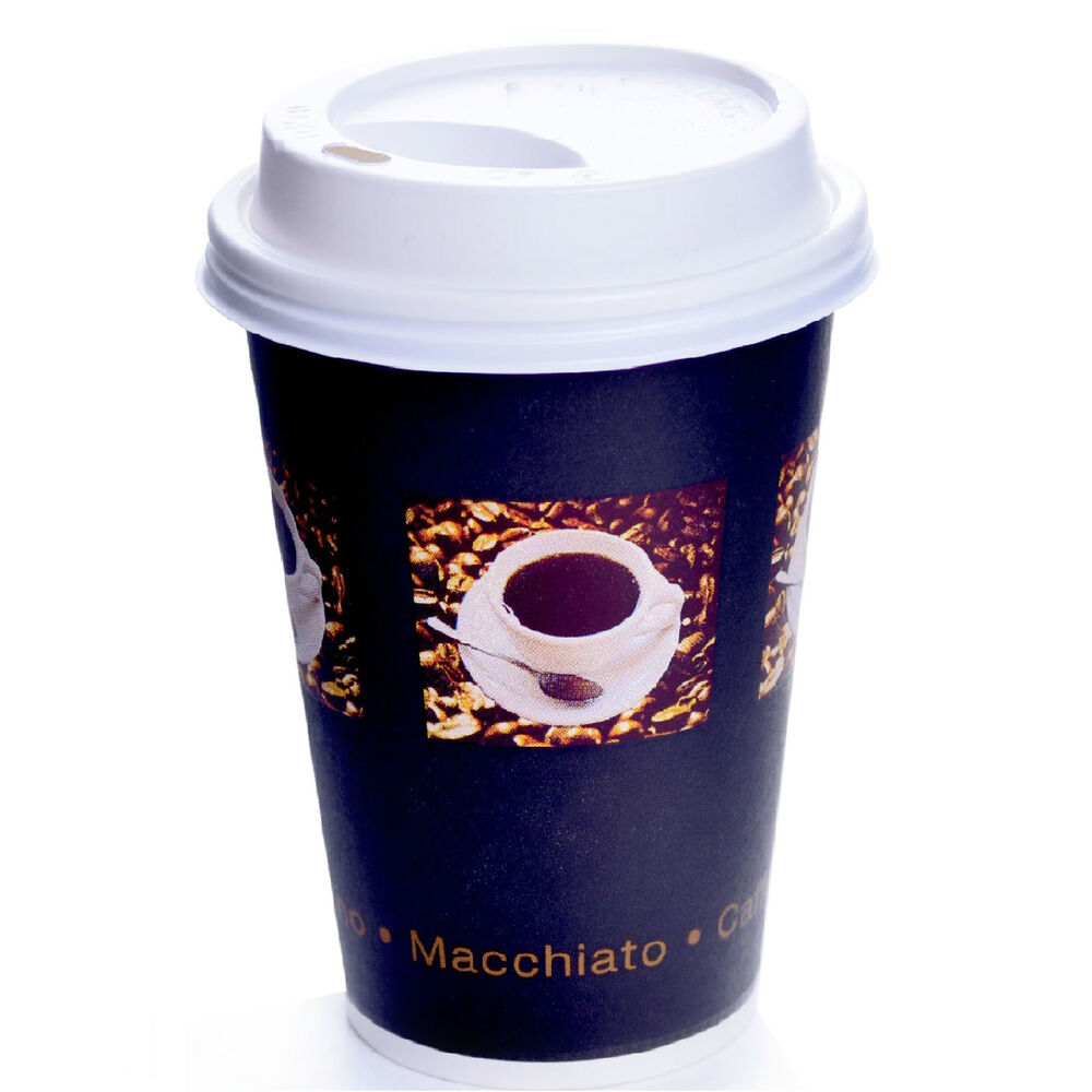 coffee to go becher mit deckel 0 3l hartpapierbecher pappbecher kaffee einweg ebay. Black Bedroom Furniture Sets. Home Design Ideas