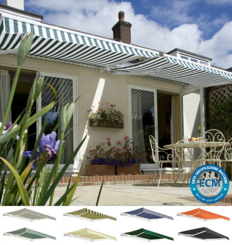 Primrose Patio Awning Manual Garden Canopy Sun Shade Retractable Shelter Outdoor