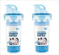 2pc x Protein Gym Sports Shake Mixer Shaker Drink Bottle Air Tight Multi-Purpose
