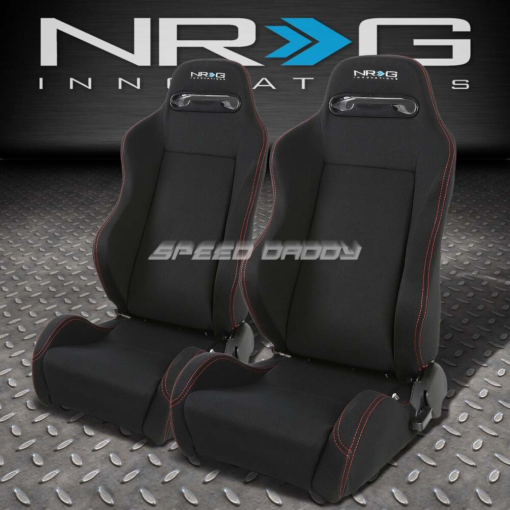 2 X Nrg Type R Fully Reclinable Racing Seat Seats