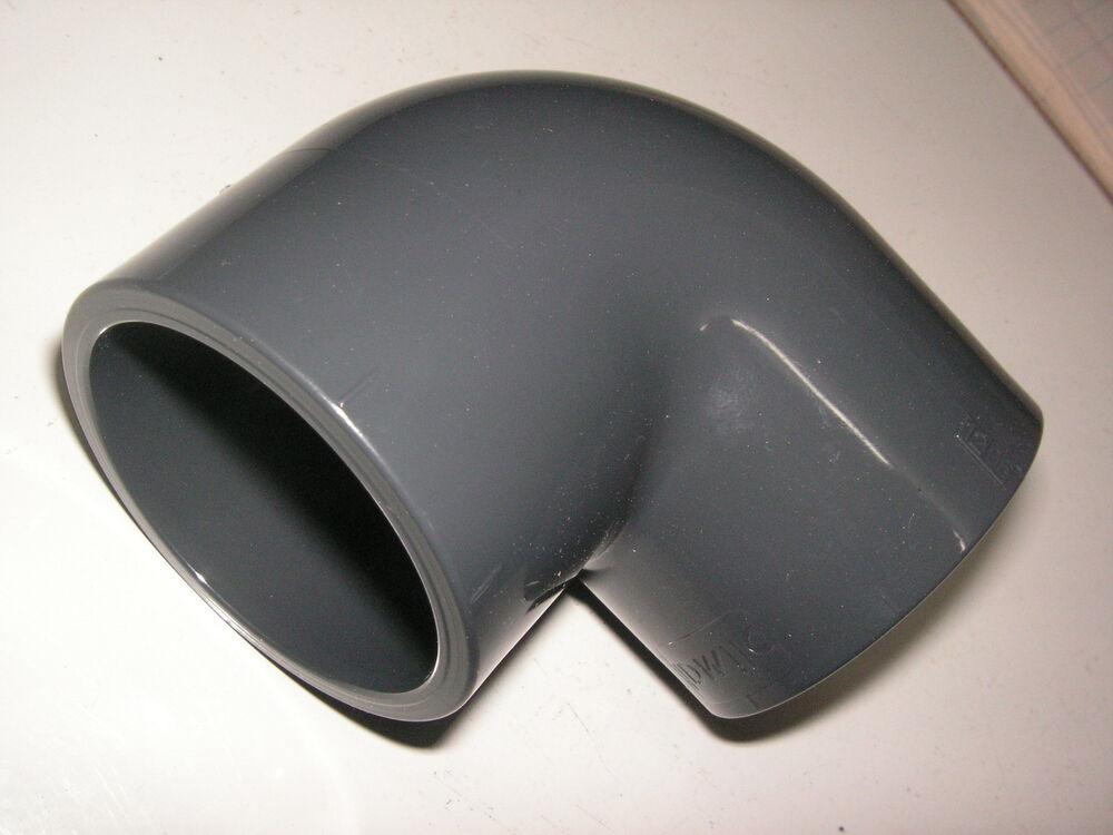grey pvc pressure 90 degree elbow pond pipe fittings solvent weld ebay. Black Bedroom Furniture Sets. Home Design Ideas