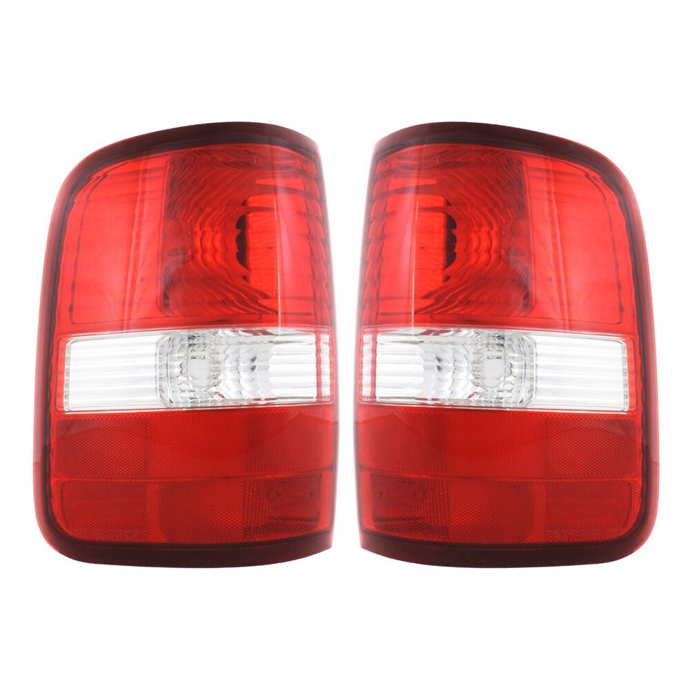 set of 2 tail light for 04 2008 ford f 150 fx4 clear red lens capa. Black Bedroom Furniture Sets. Home Design Ideas