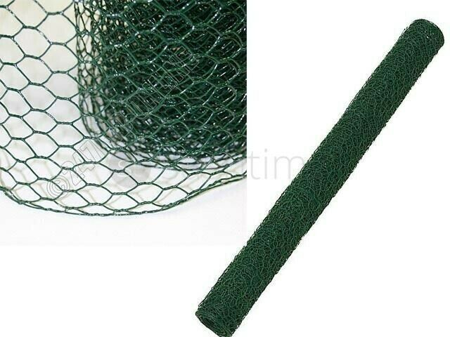 10/20/30/40Mx0.9m Garden Wire Chicken/Rabbit 25mm PVC Galvanised Net ...