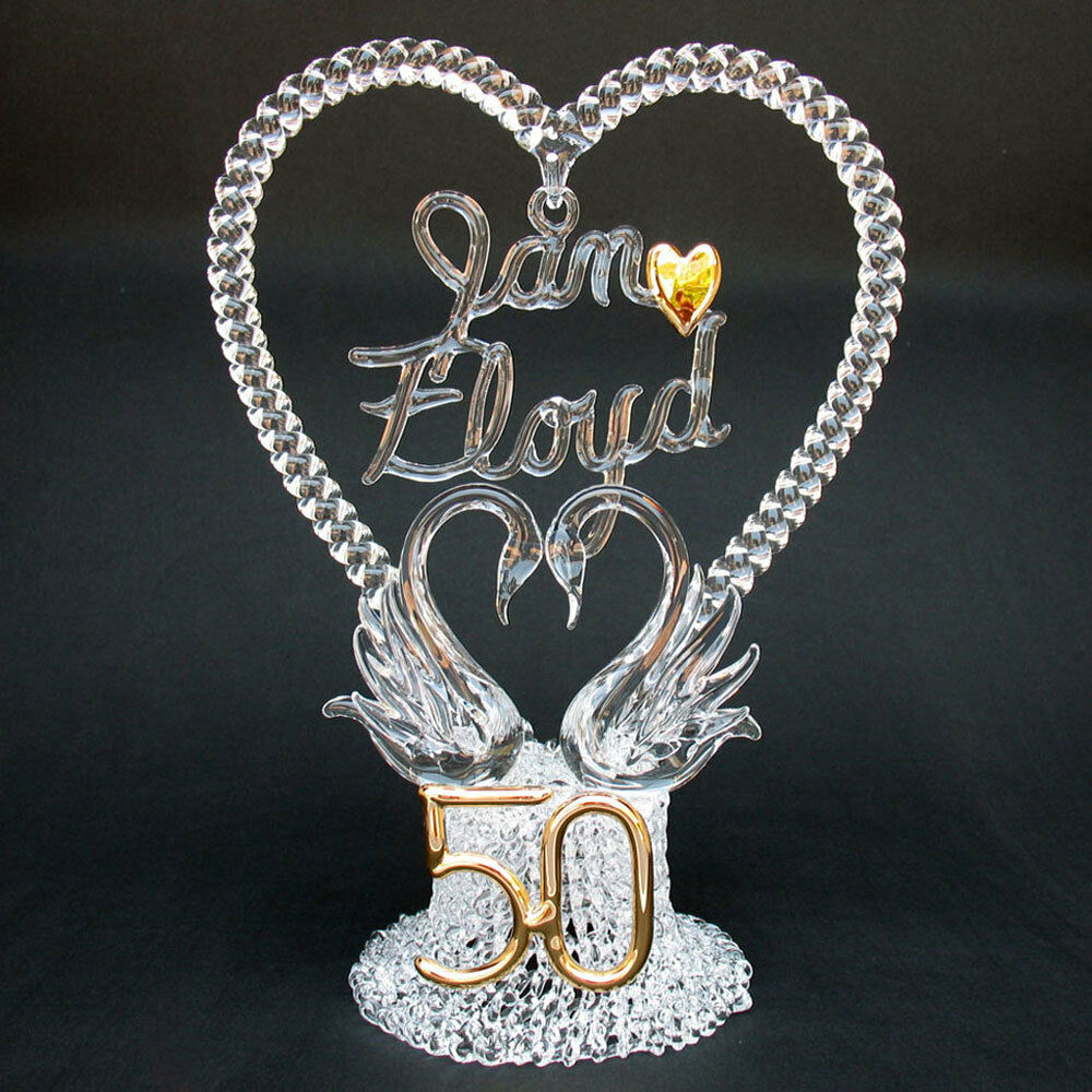 wedding cake toppers for 50th anniversary 50th fiftieth personalized anniversary wedding cake top ebay 26468