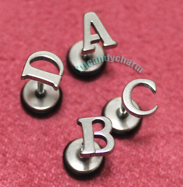 alphabet stud earrings personalized a to z alphabet letter 26 initial stud 6422