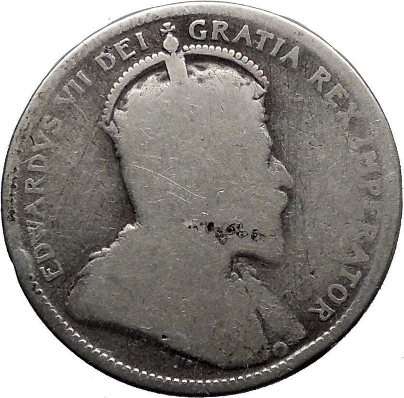 Canada 1905 25 Cents Silver Purity 925 Coin With British King Edward Vii I32338 Ebay
