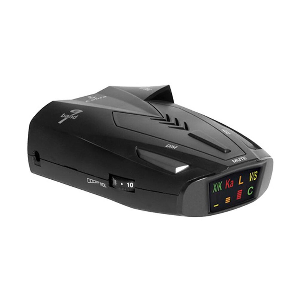 Cobra 9 Band Laser Police Radar Detector with Safety Alert ...