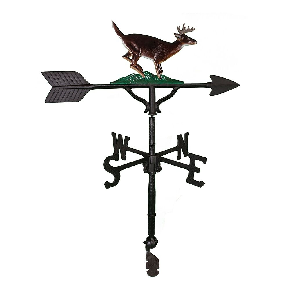 32 Roof Mount Weathervane Buck Deer Antlers Arrow