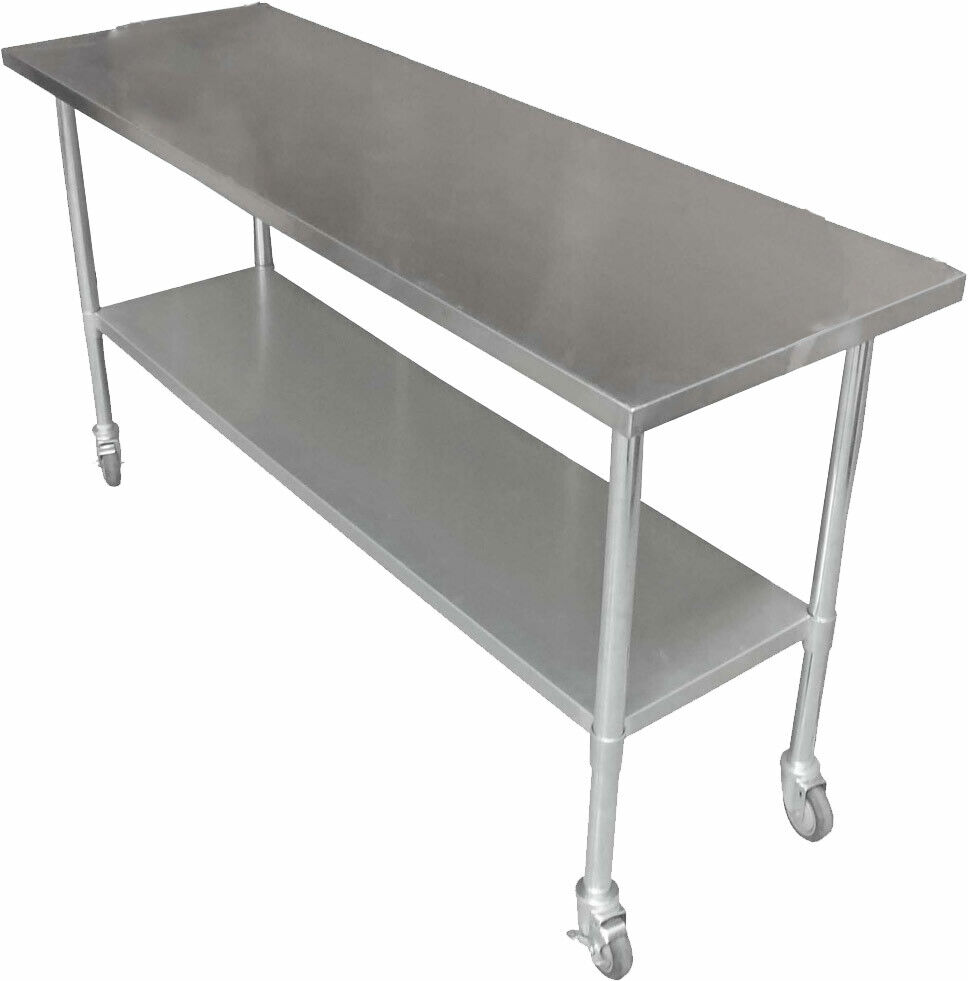 1829 X 610mm New 304 Stainless Steel Work Bench Kitchen Food Prep Catering Table Ebay
