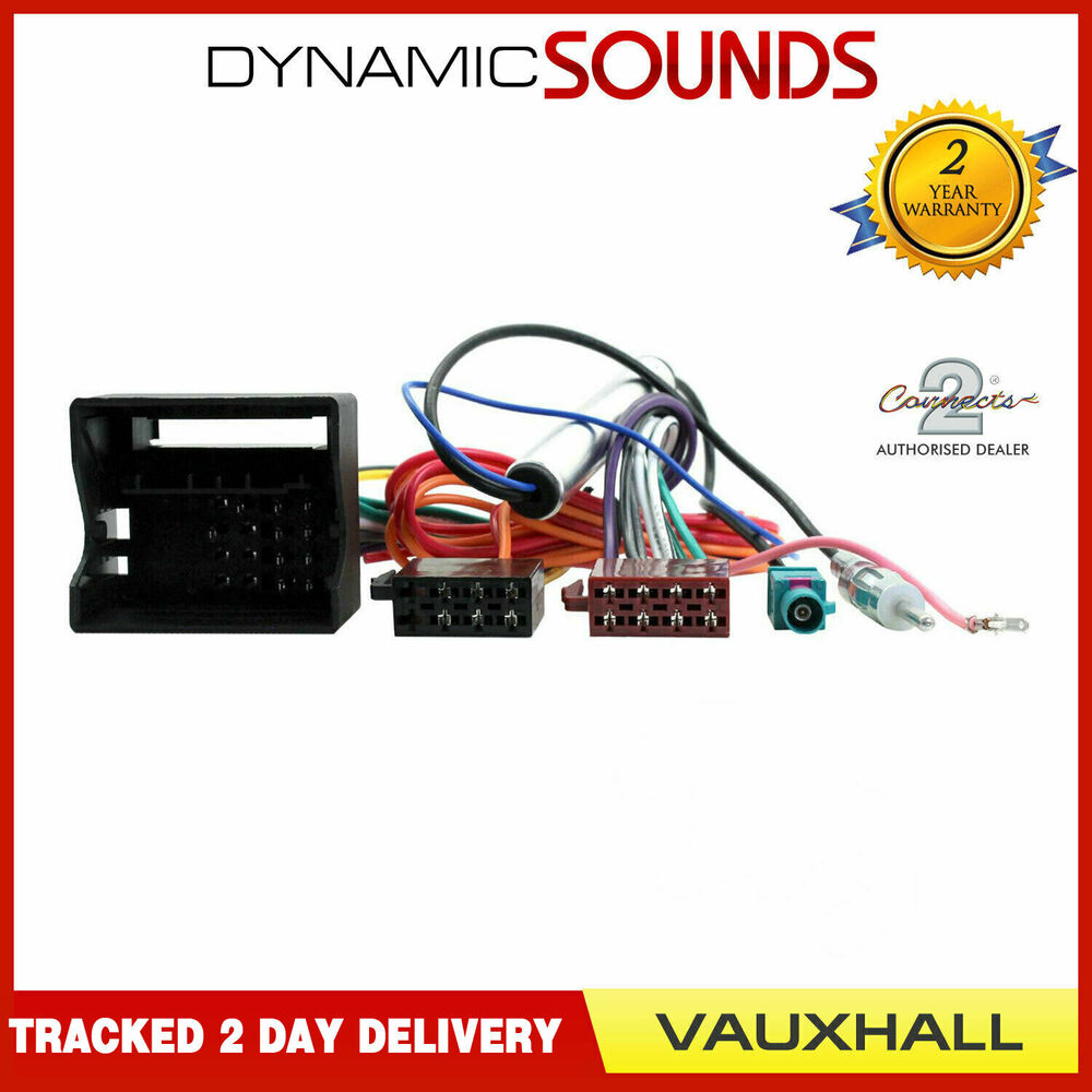 Stereo CD Radio Wiring Harness Aerial Adaptor For Vauxhall Corsa C