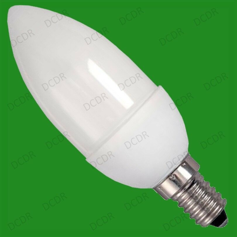 6x 7w Low Energy Cfl Micro Candle Eco Friendly Light Bulbs Ses E14 Lamps Ebay